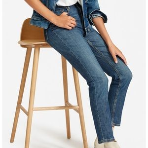 Everlane The Cheeky Straight Ankle Blue Jean 30